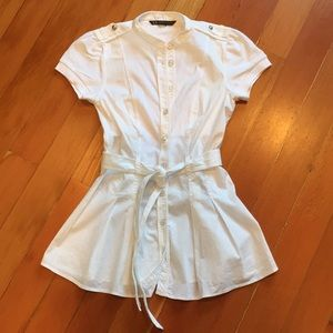 Armani Exchange white short-sleeved shirt